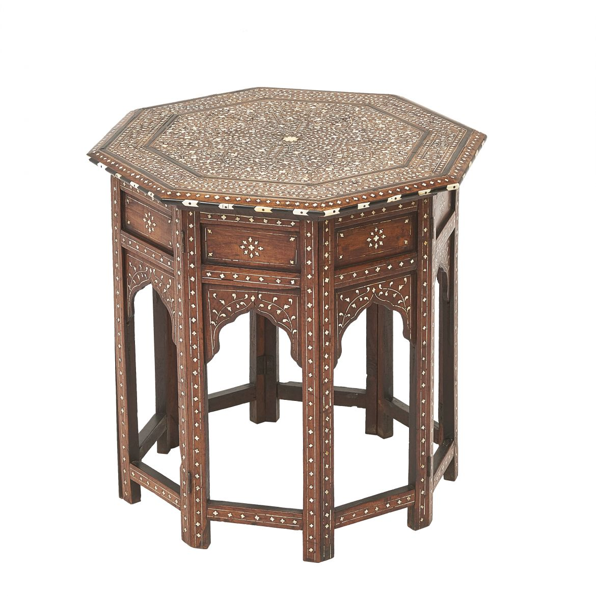 Indian Inlaid Folding Table