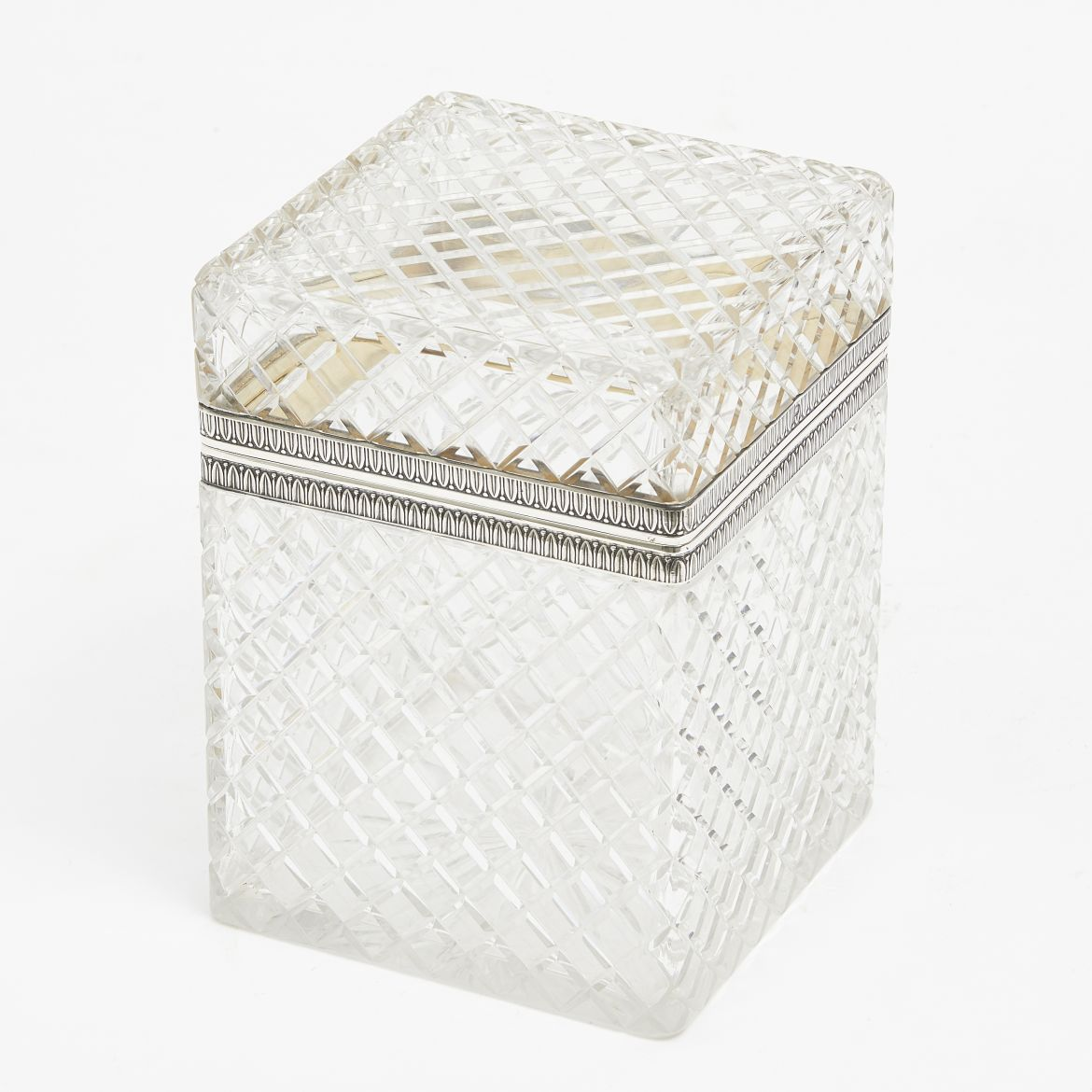 French Cut Glass Box