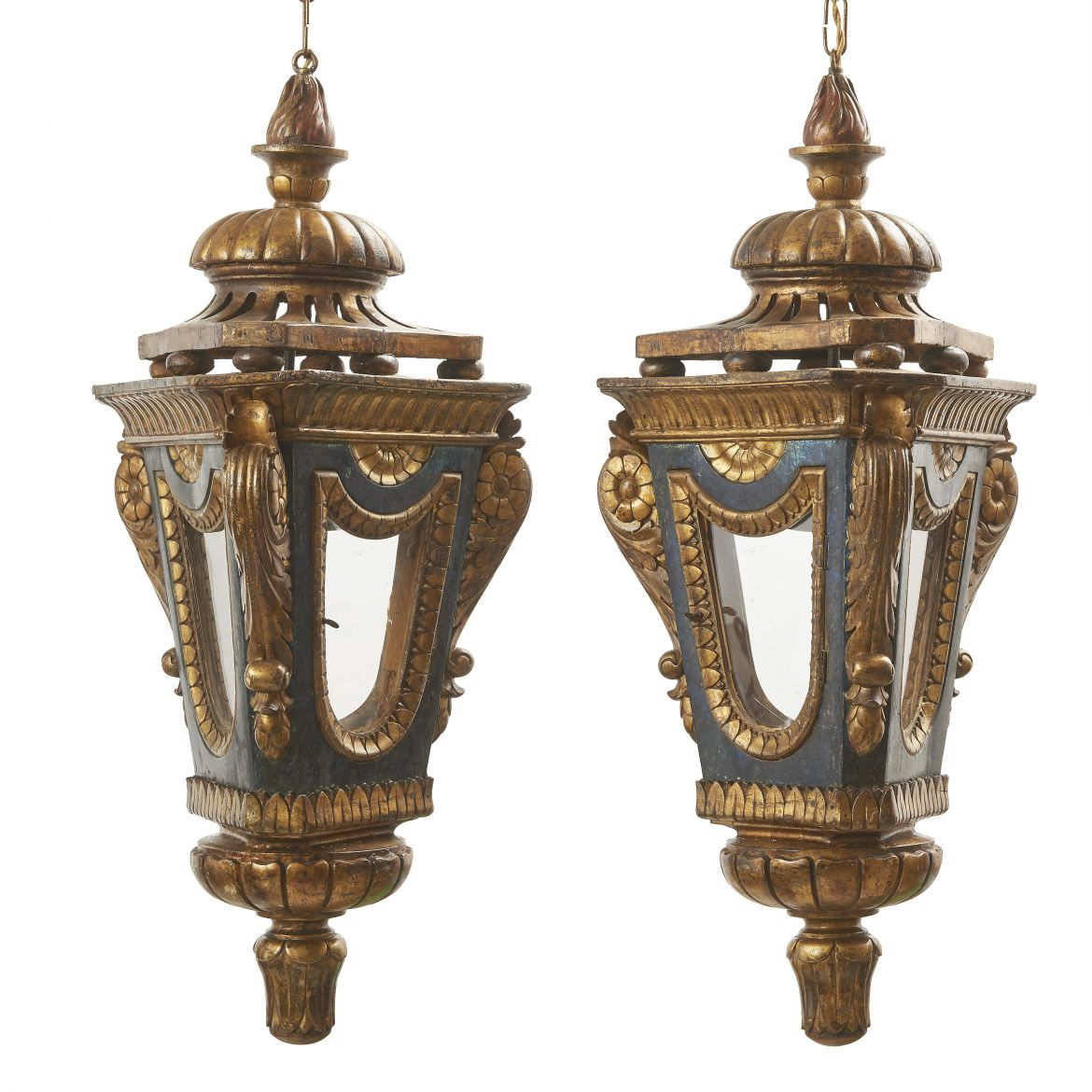 Italian Neoclassical Gilt Lanterns