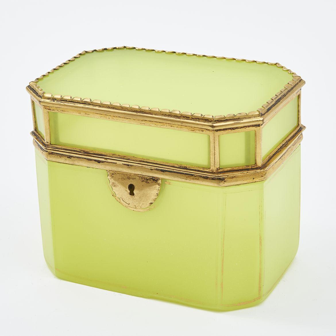 Bohemian Yellow Glass Box