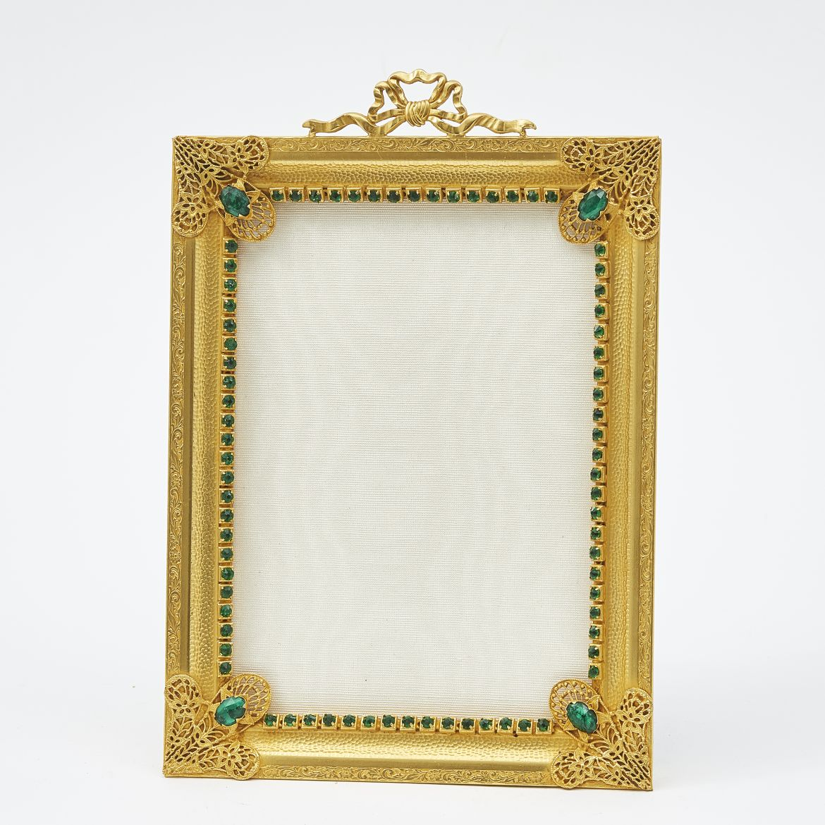 French Ormolu and Green Paste Frame