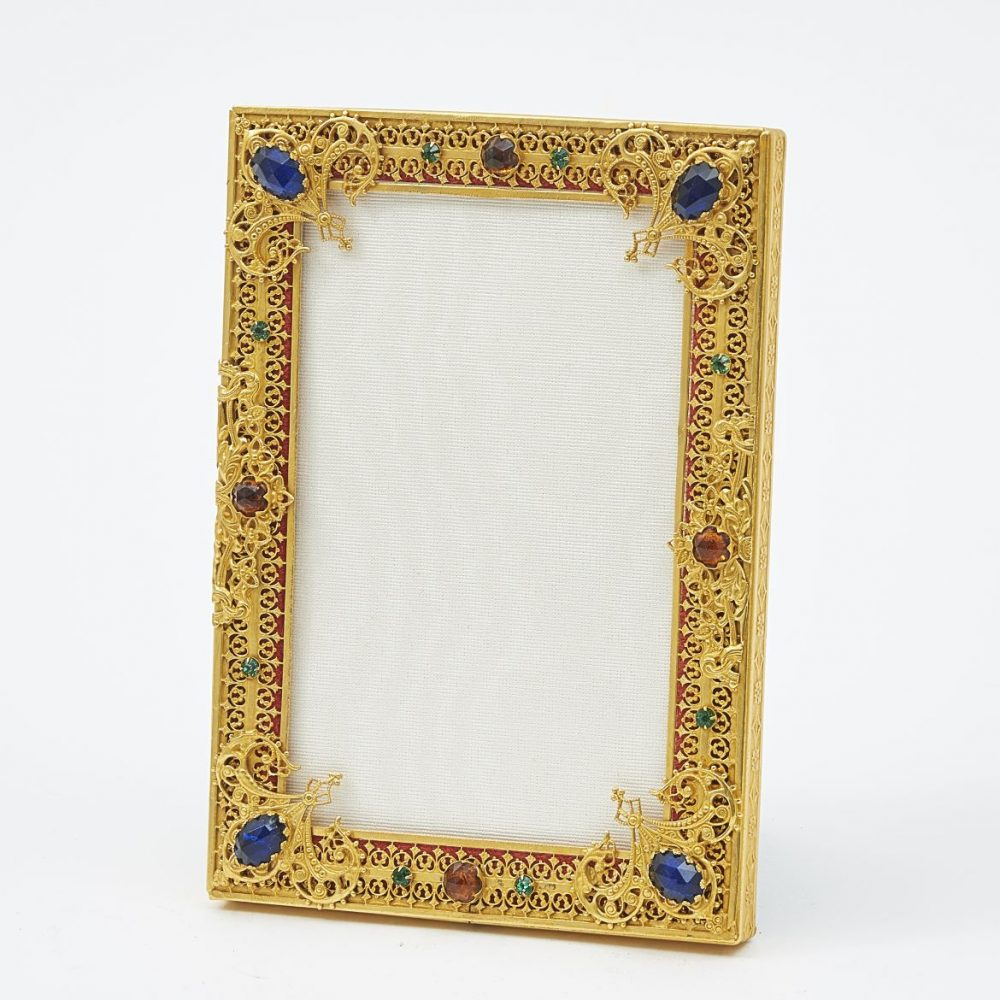 1920s French Photo Frame With Paste