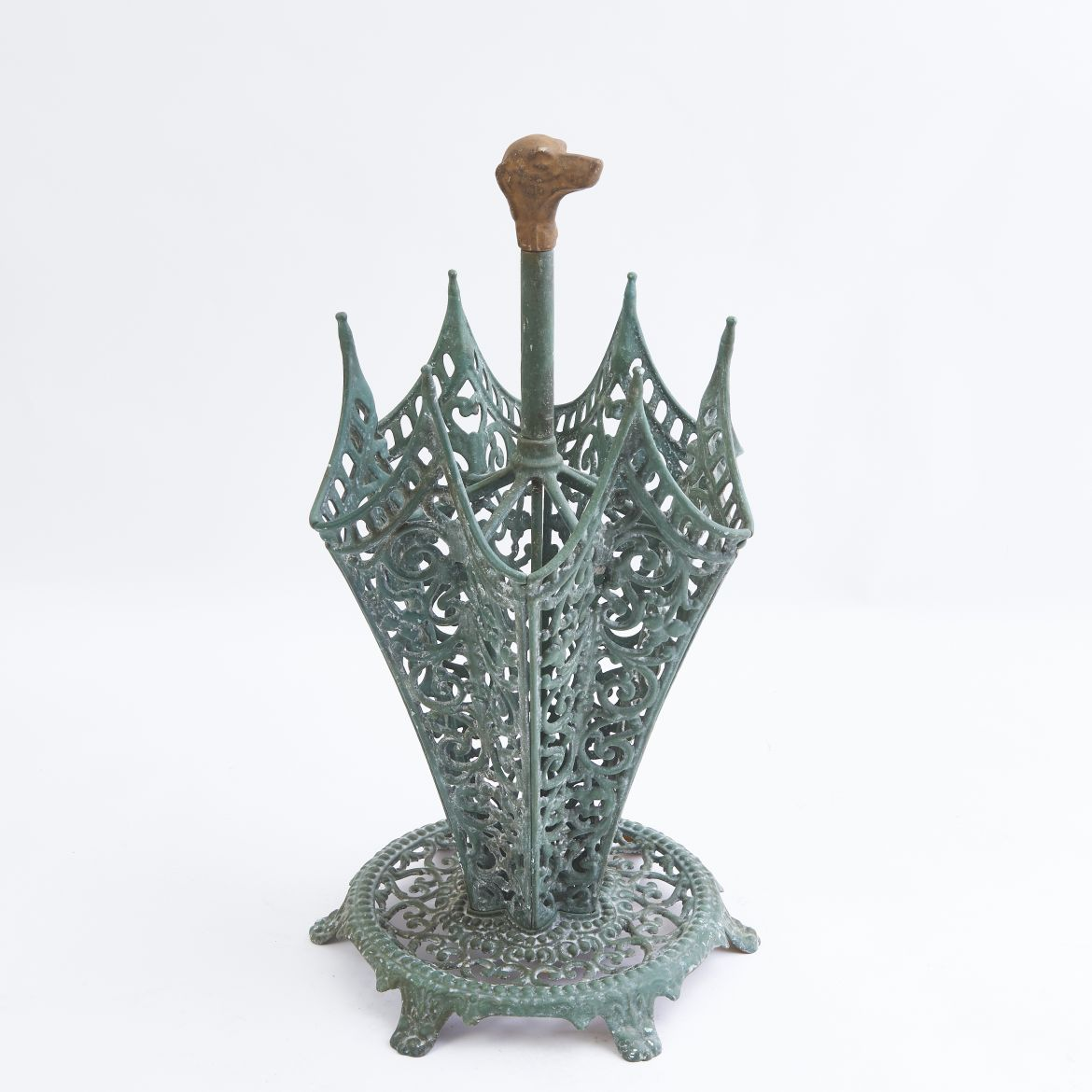 Victorian Green Painted Umbrella Stand