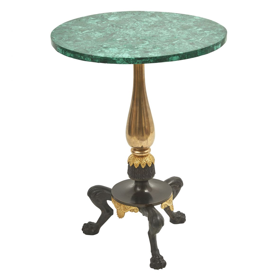 Charles X Neoclassical Malachite Veneered Gueridon