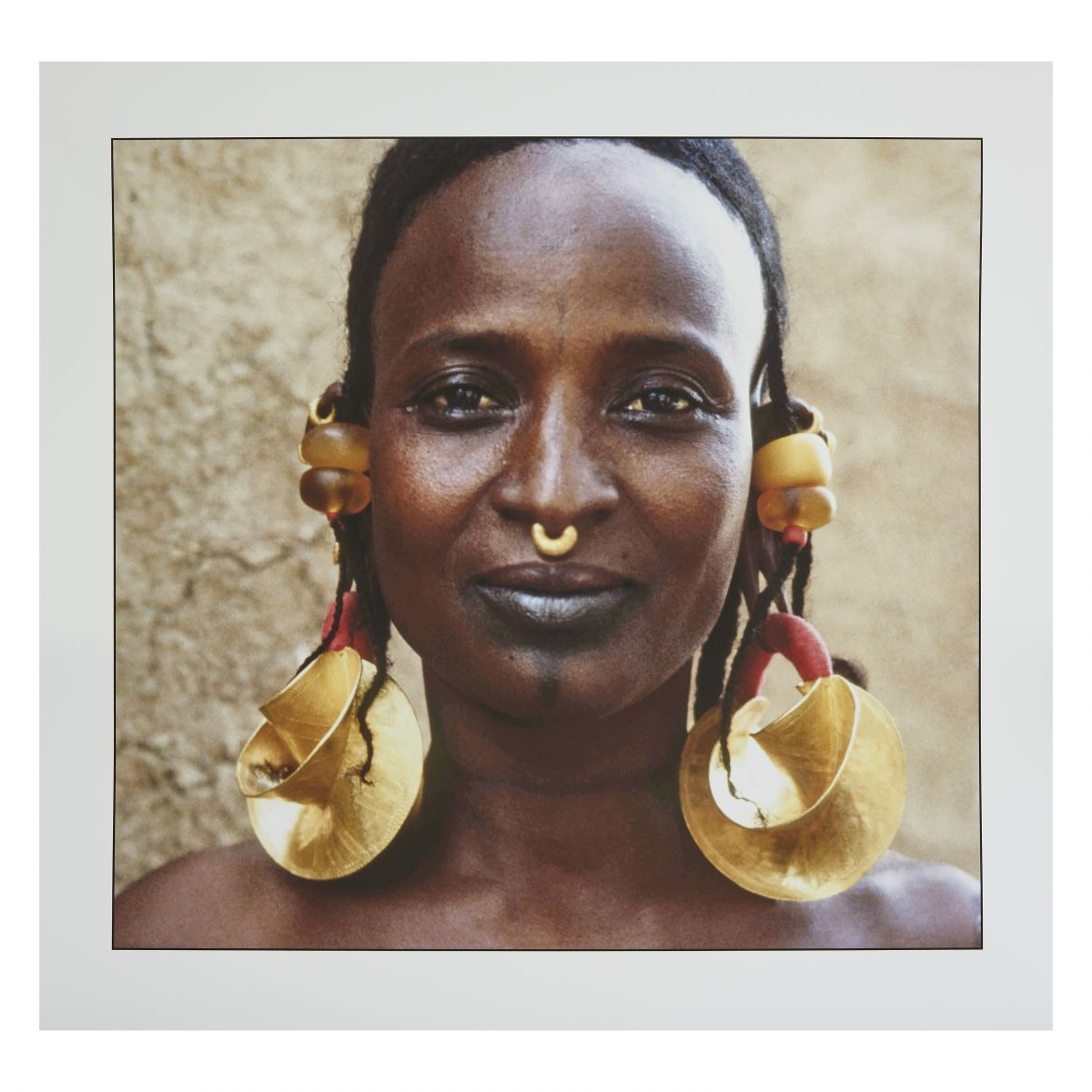 Young Peul tribe woman with Gold Earrings