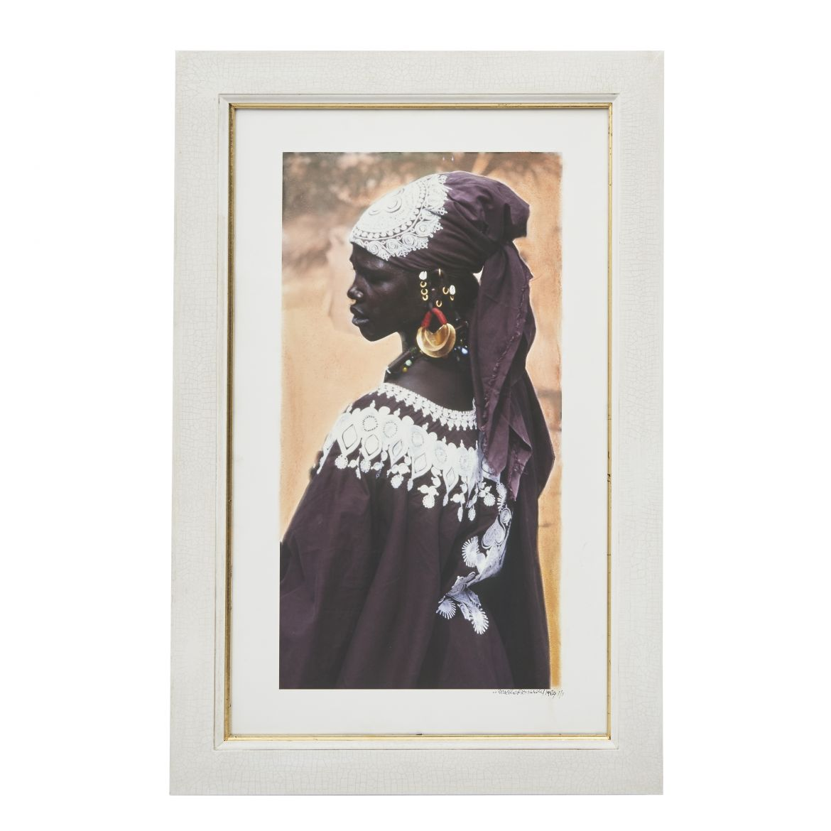 Mali Woman with Embroidered Head Scarf