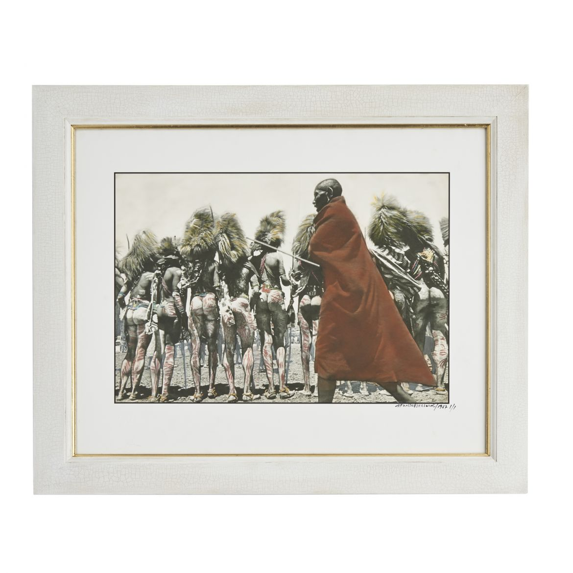 An Elder of the Manyatta inspecting the dancers