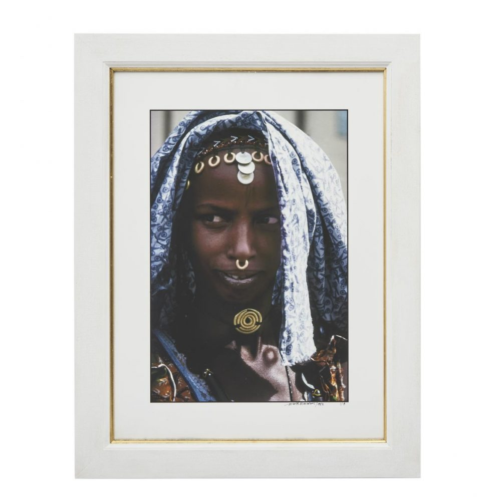 Mirella Riccardi Young Fulani Peul Girl with patterned Cotton Shawl