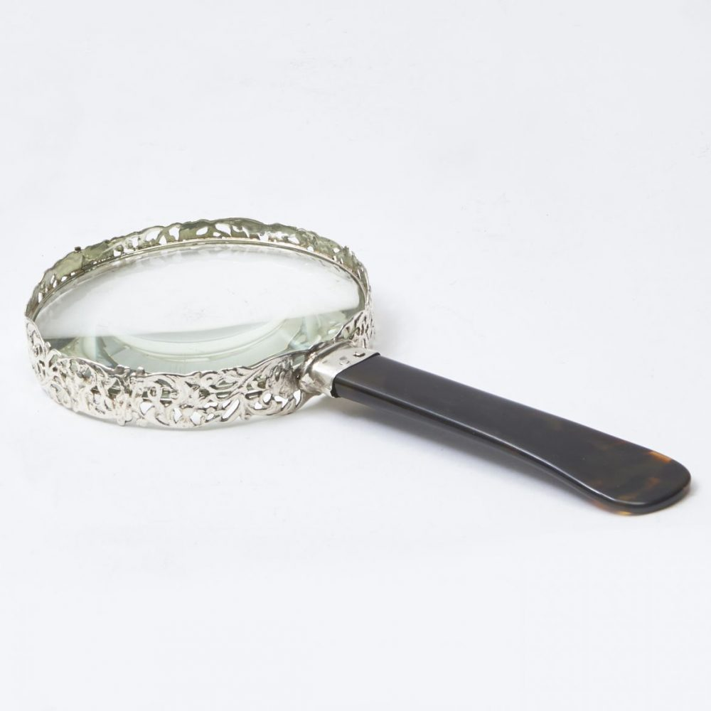 Silver and Tortoiseshell Magnifying Glass