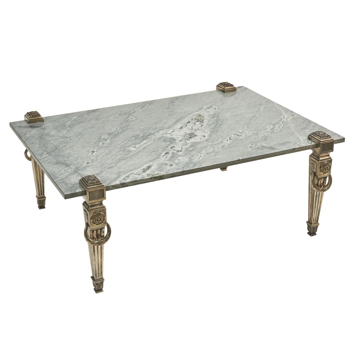 English Silver Plated Neoclassical Style Coffee Table