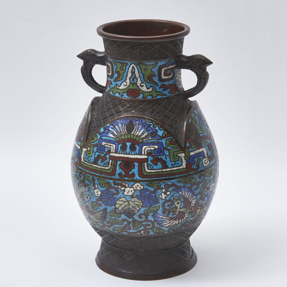 Chinese Enamel and Bronze vase