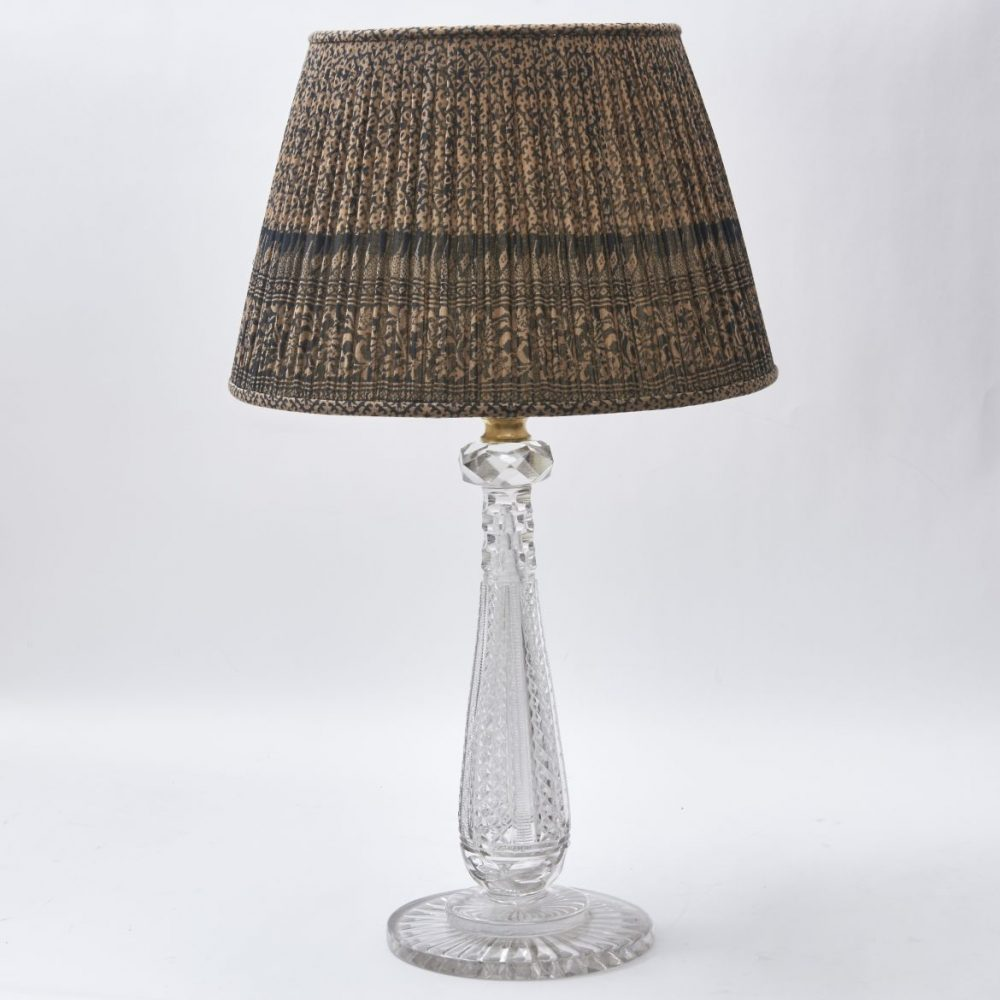 Victorian Cut Crystal Lamp