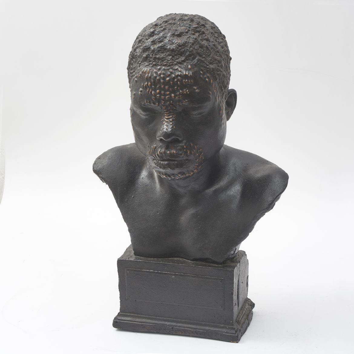 African Tribesman Plaster Bust