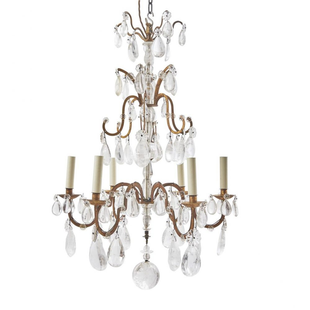 French Rock Crystal Chandelier
