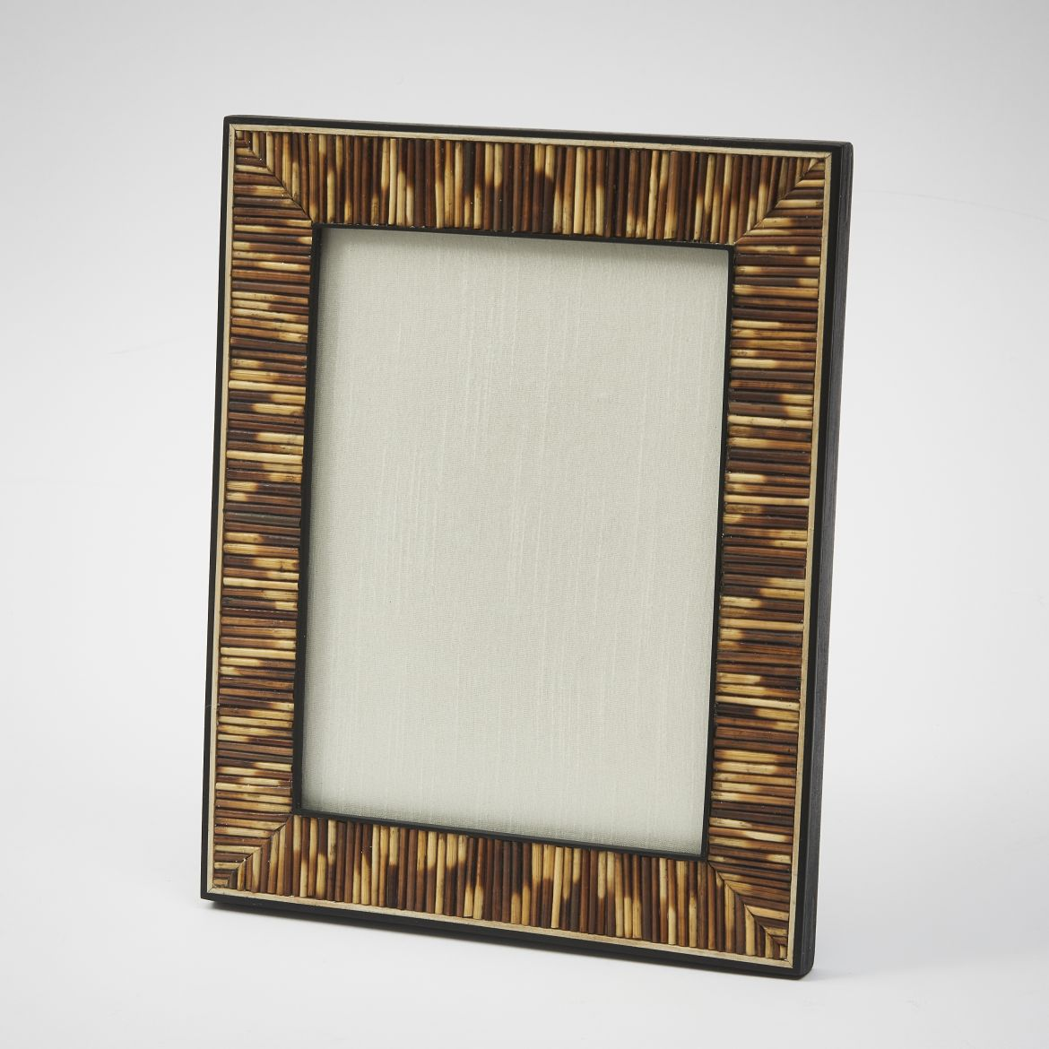 Porcupine Quill Frame With Bone Edging