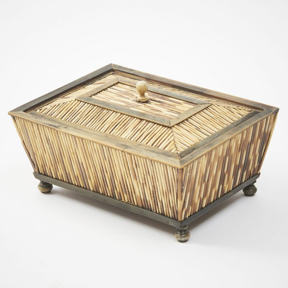 Indian Quill And Horn Box