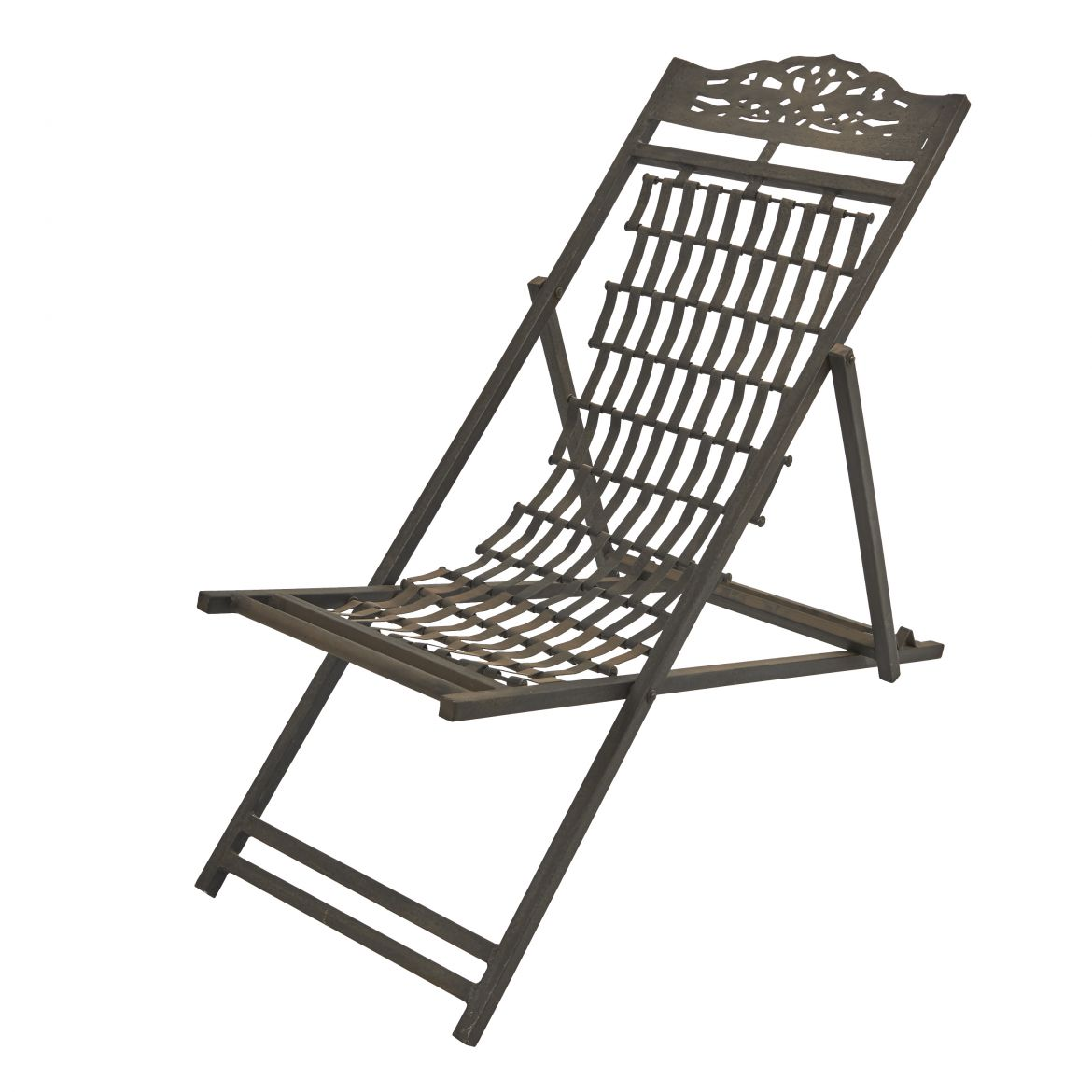 African Metal Lounger Chair