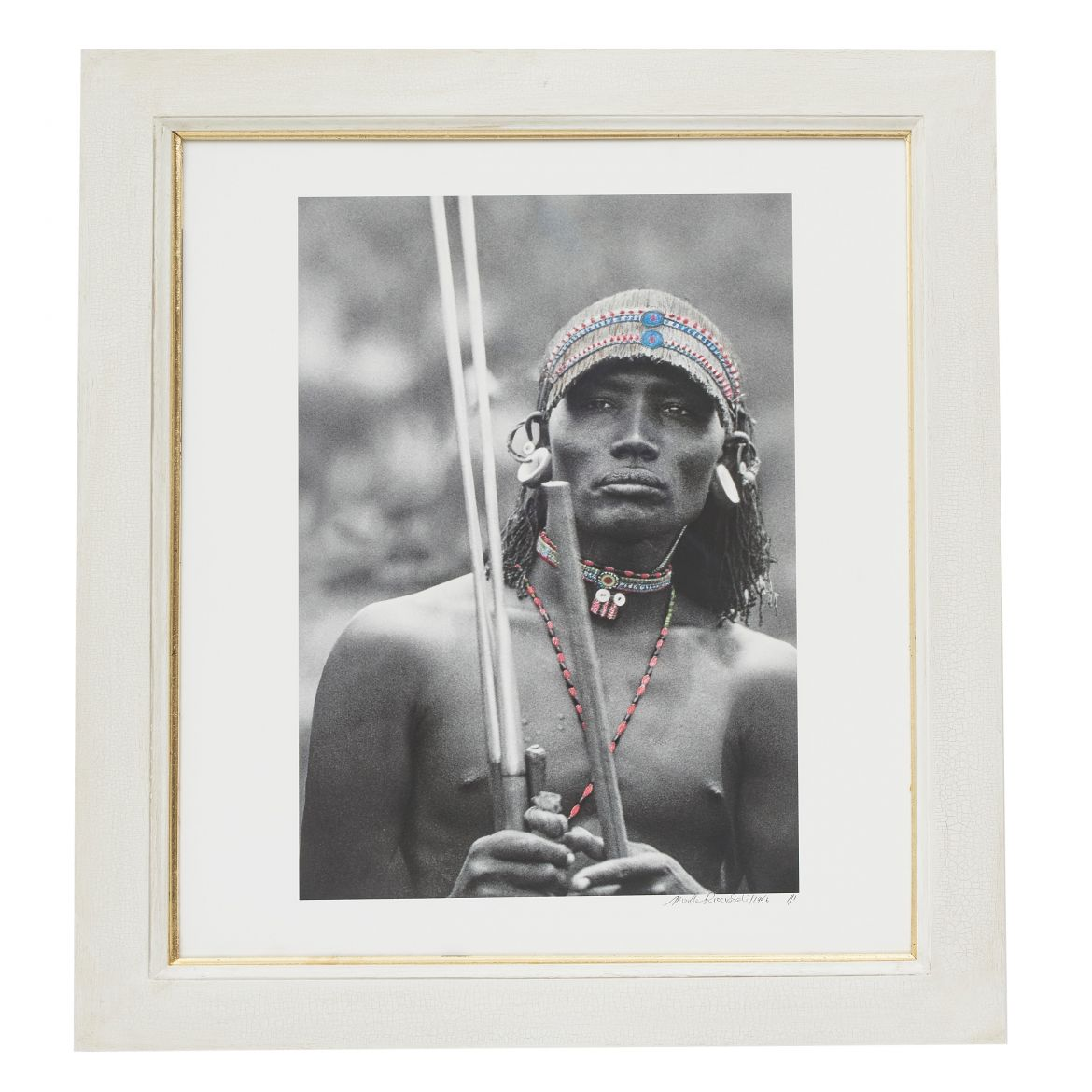 Young Samburu Murran Holding his Spears