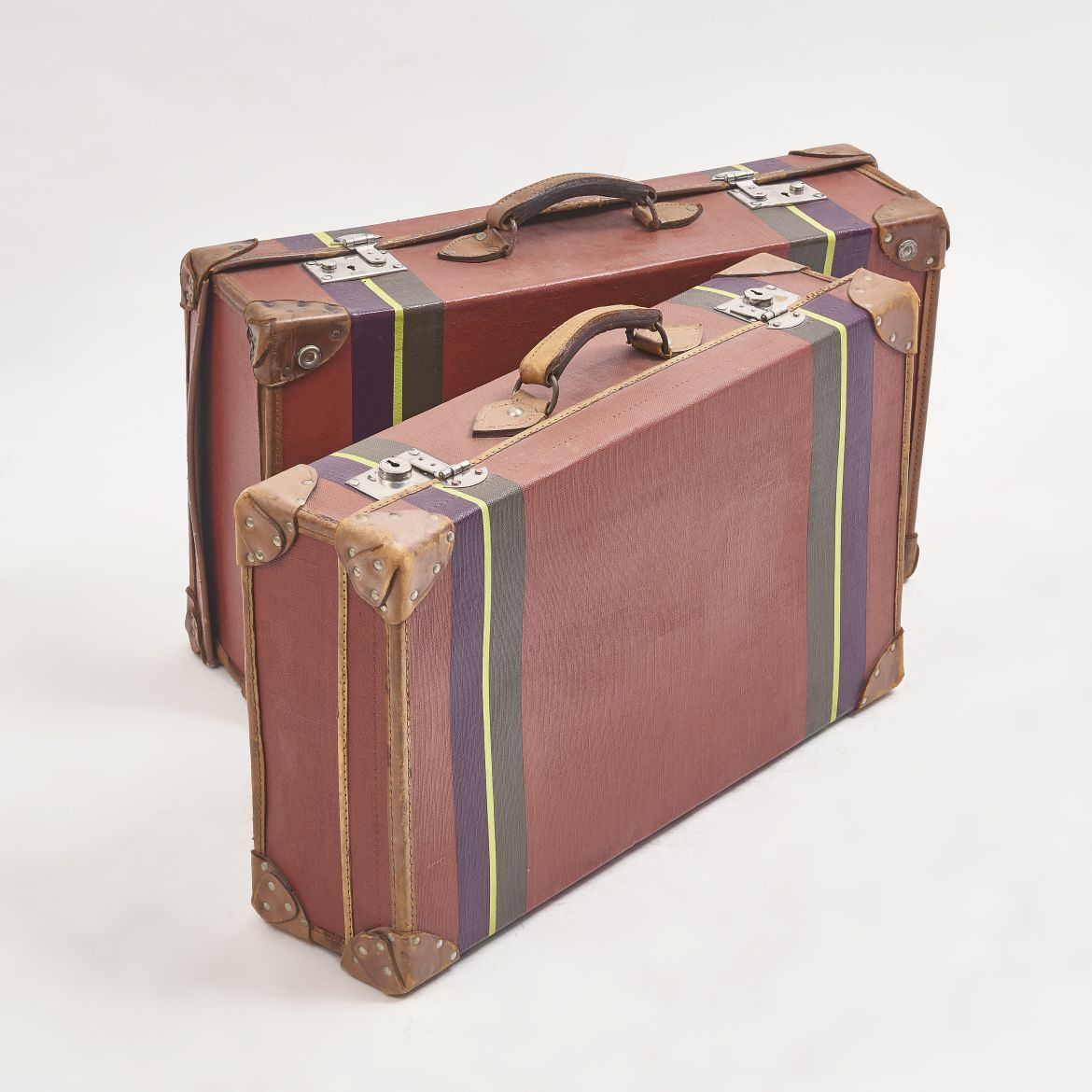Vintage Luggage With Painted Etro Colours