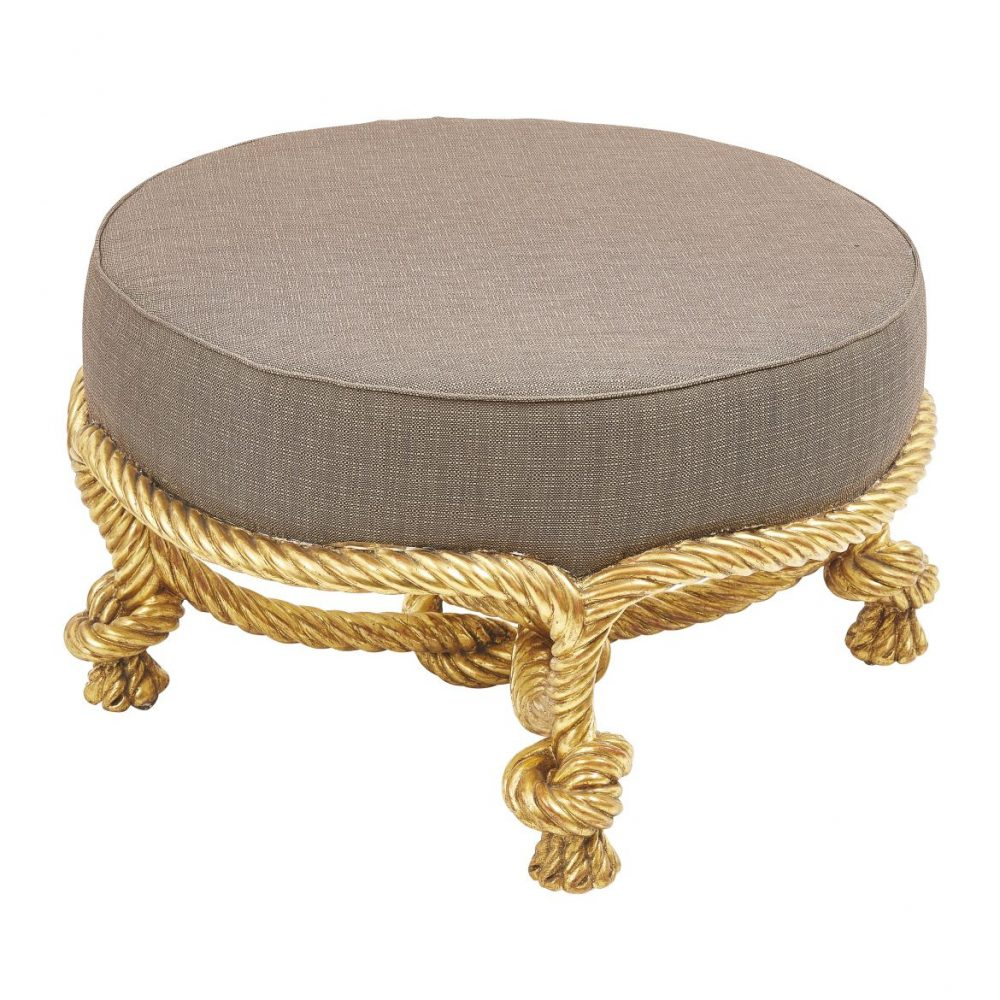 Round Giltwood Stool After Fournier