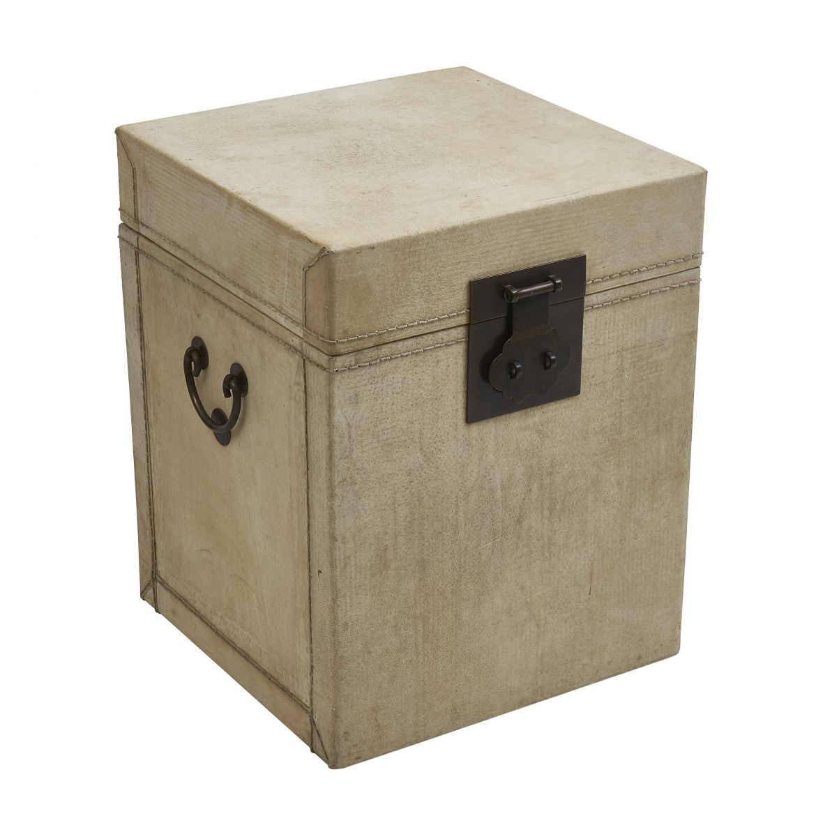 Chinese Vellum Covered Trunk