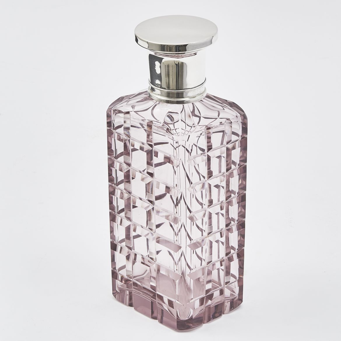 Amethyst Cut Glass Decanter