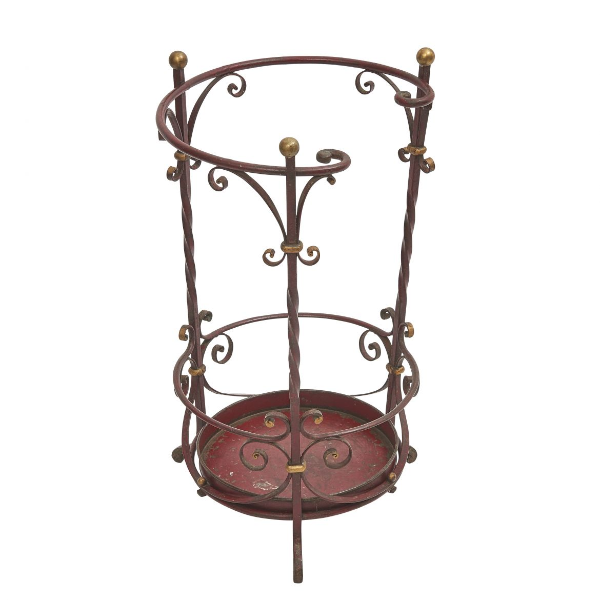 French Wrought Iron Stick Stand In The Style Of Poillerat