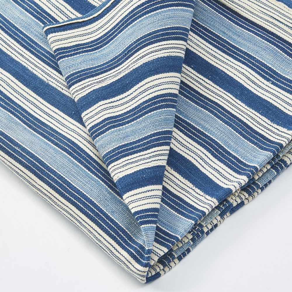 African Blue Striped Throw