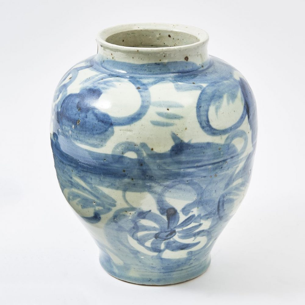 Chinese Ming Style Blue And White Jar