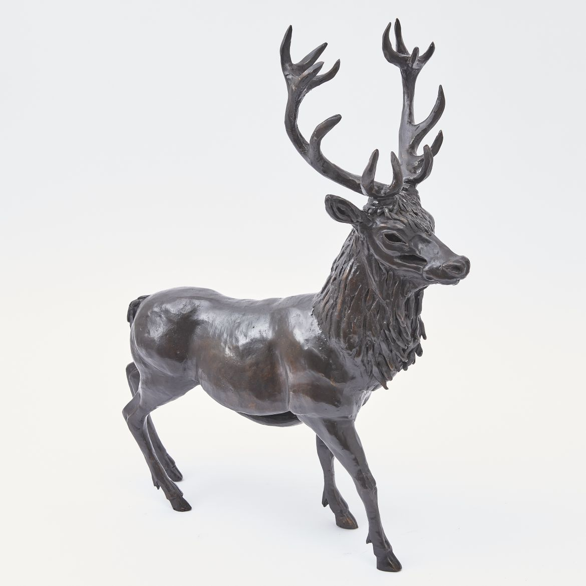 Paula Swinnen Bronze Sculpture Of A Stag