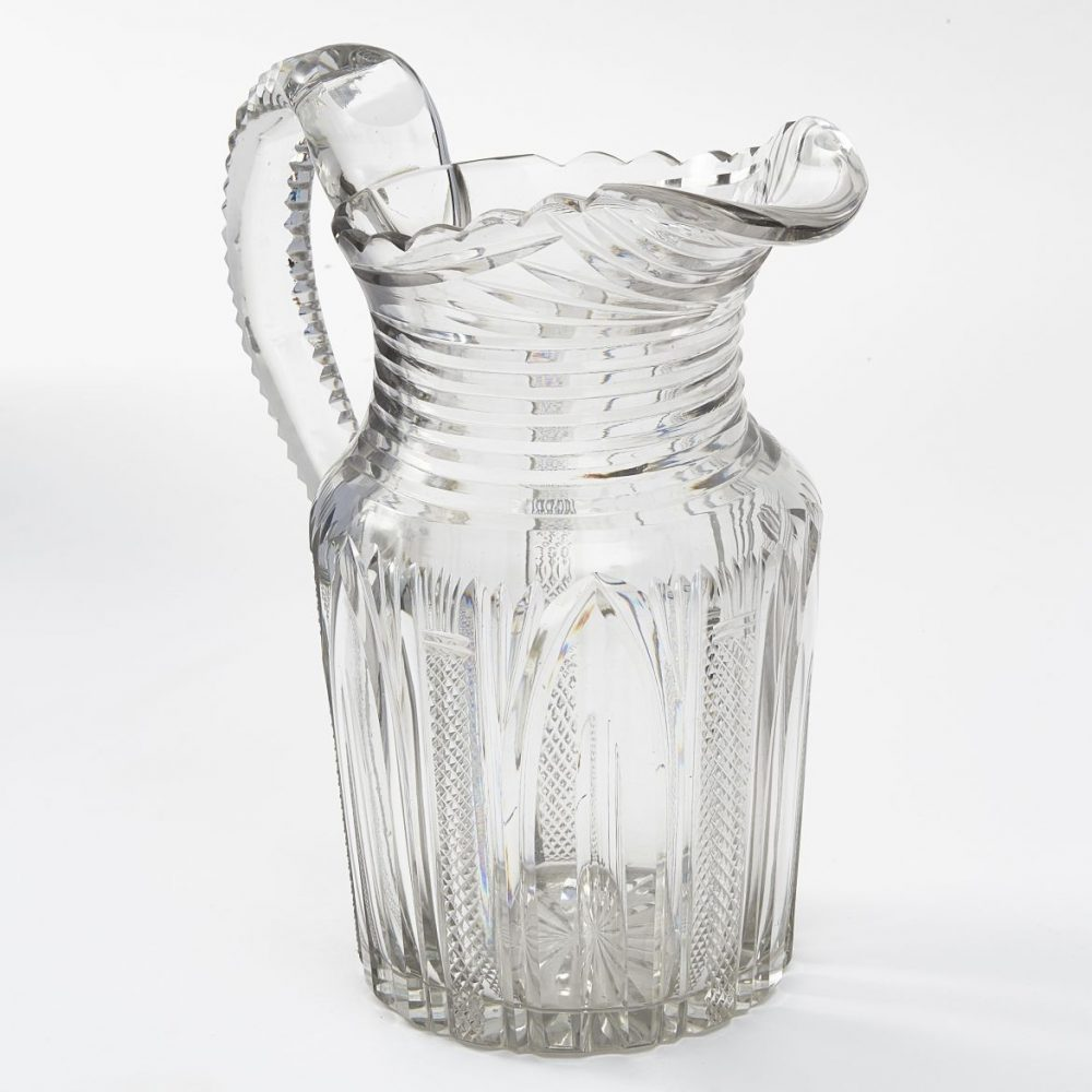 Regency Cut Crystal Jug