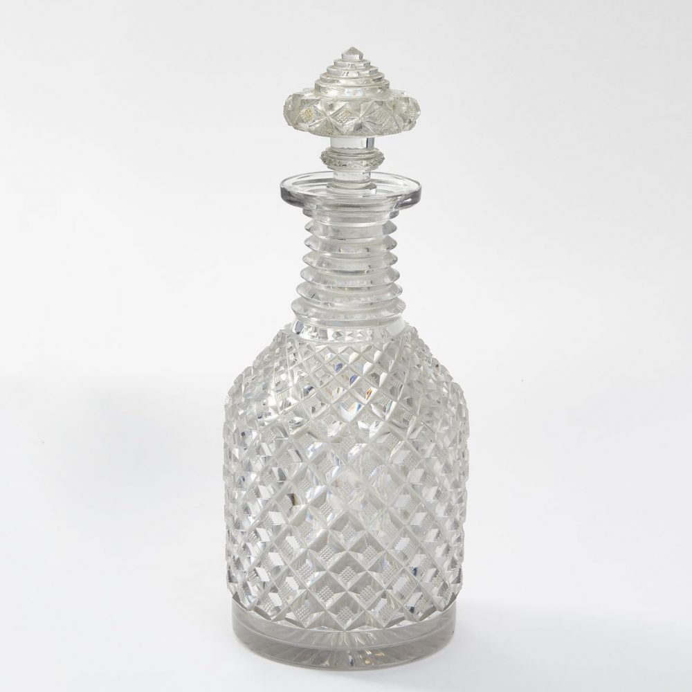 Hobnail Cut Regency Decanter And Stopper