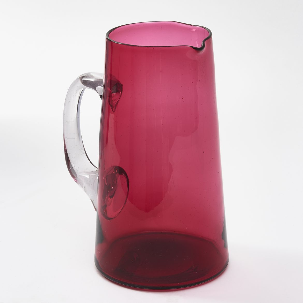 English Cranberry Glass Jug