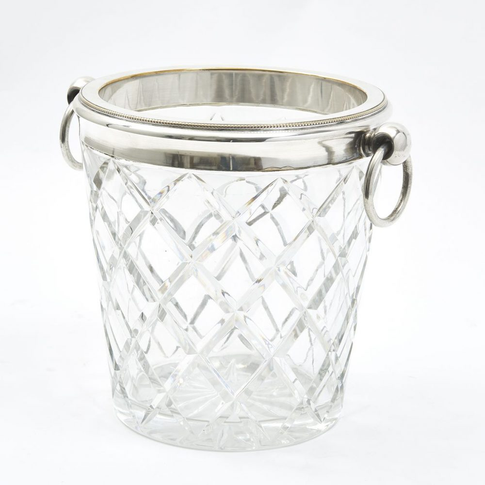 French Cut Crystal Wine Cooler