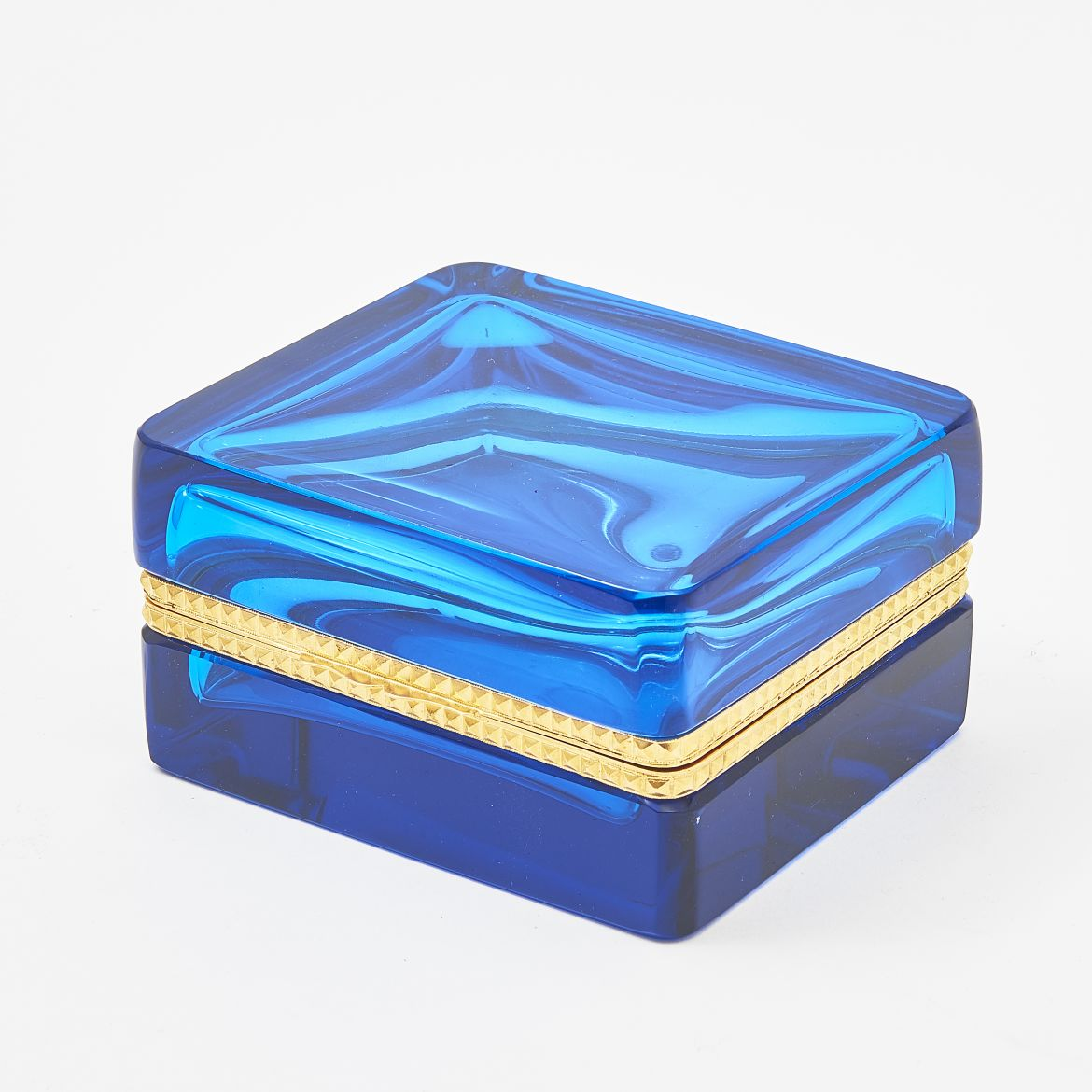 Murano 20th Century Azure Glass Box