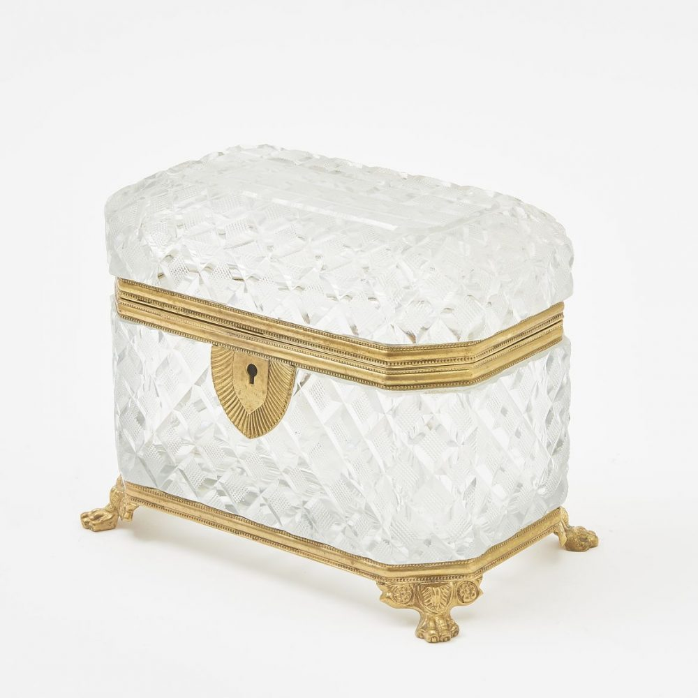 French Cut Crystal Canted Corner Box