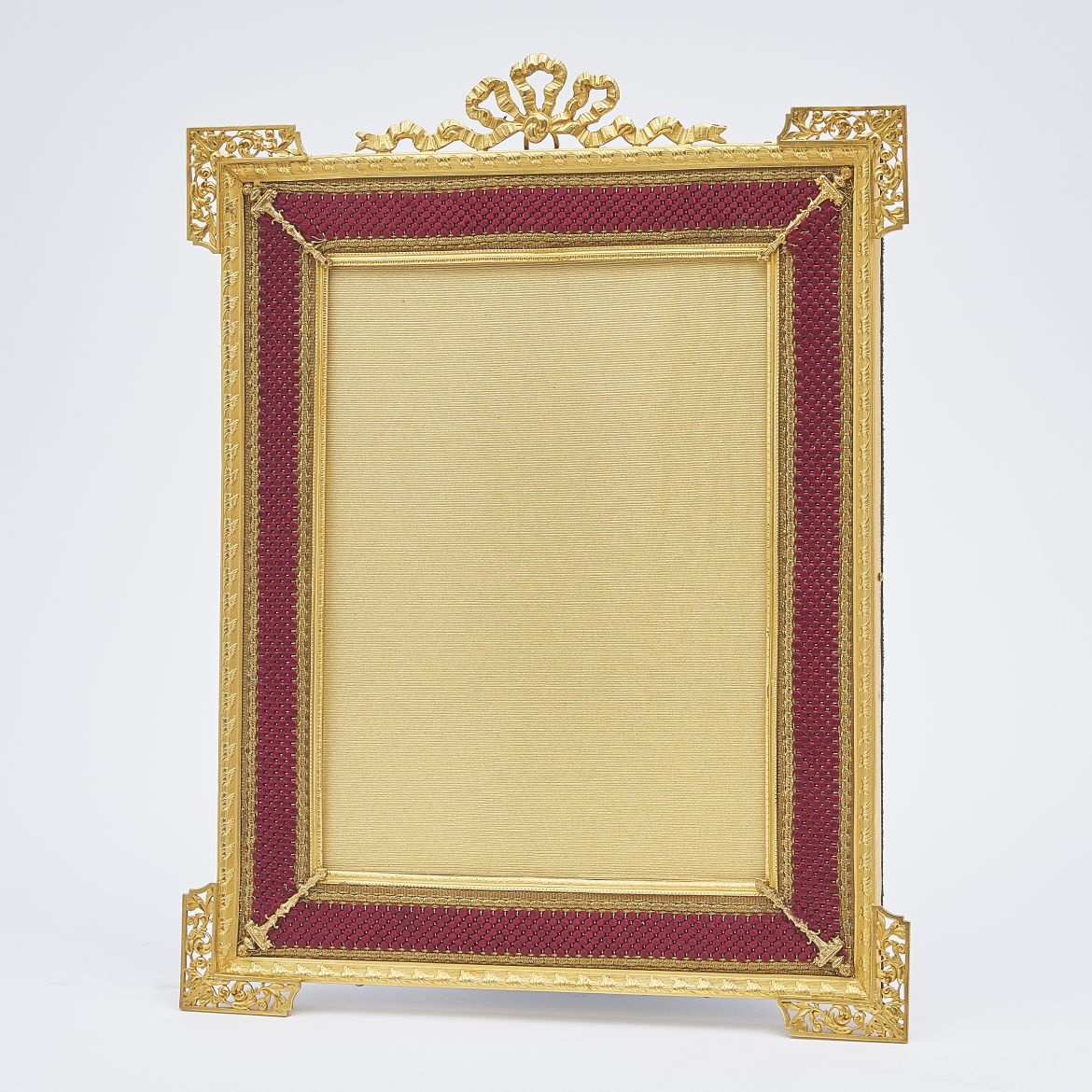 Gilt Bronze Frame With Gold Thread Border