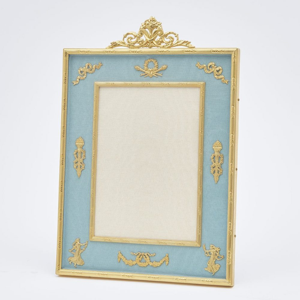Gilt Bronze Frame With Floral Crest