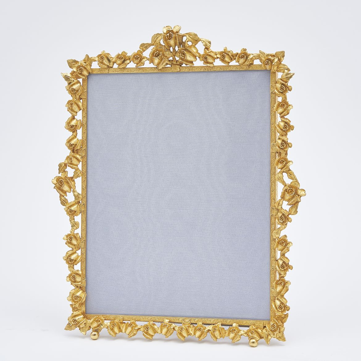 Globe Silver Company Photo Frame With Floral Border