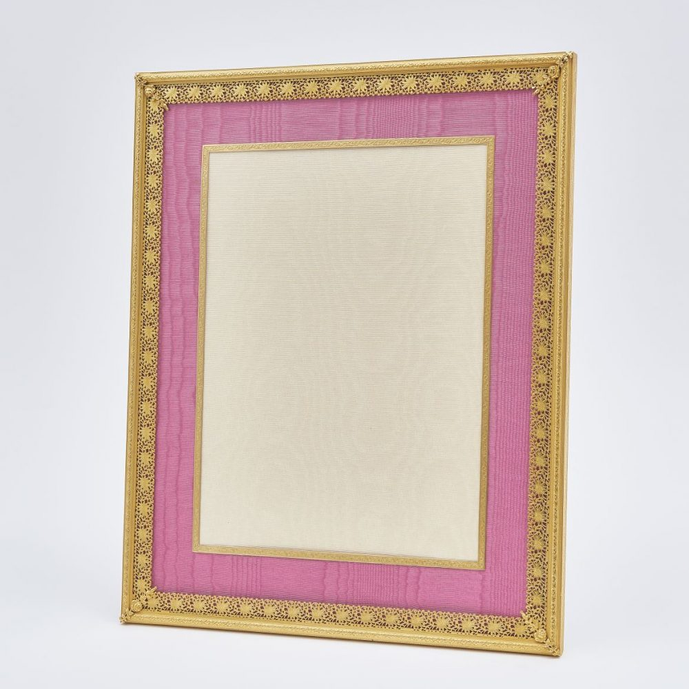 Large French Frame With Pink Slip