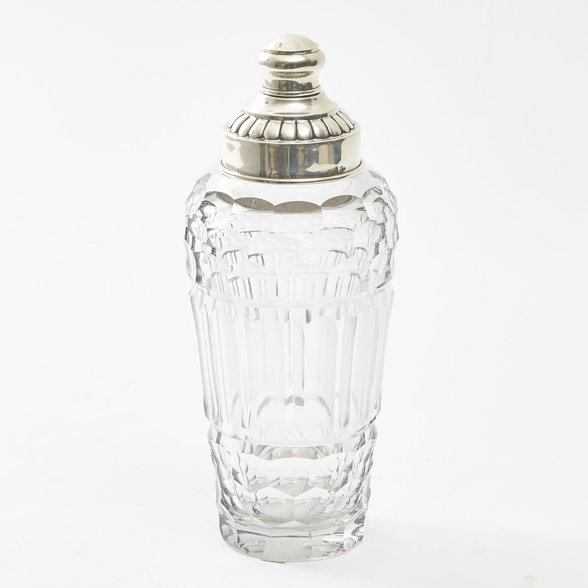 French Cut Crystal Cocktail Shaker