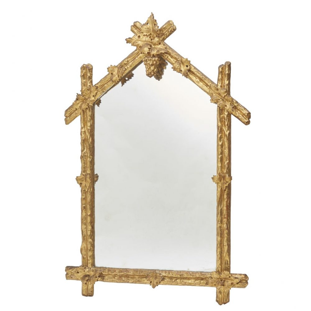 French Or Italian Giltwood Arch Top Mirror
