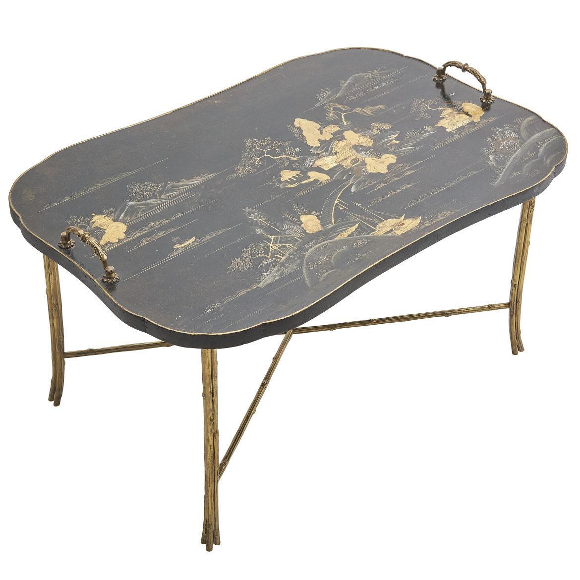 French Chinoiserie Lacquer Tray Top Table