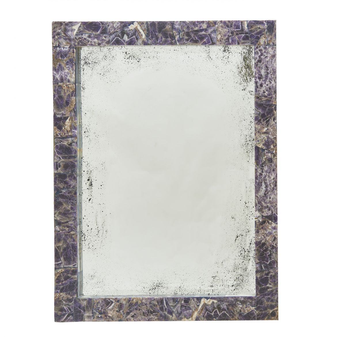 Contemporary Amethyst Mirror