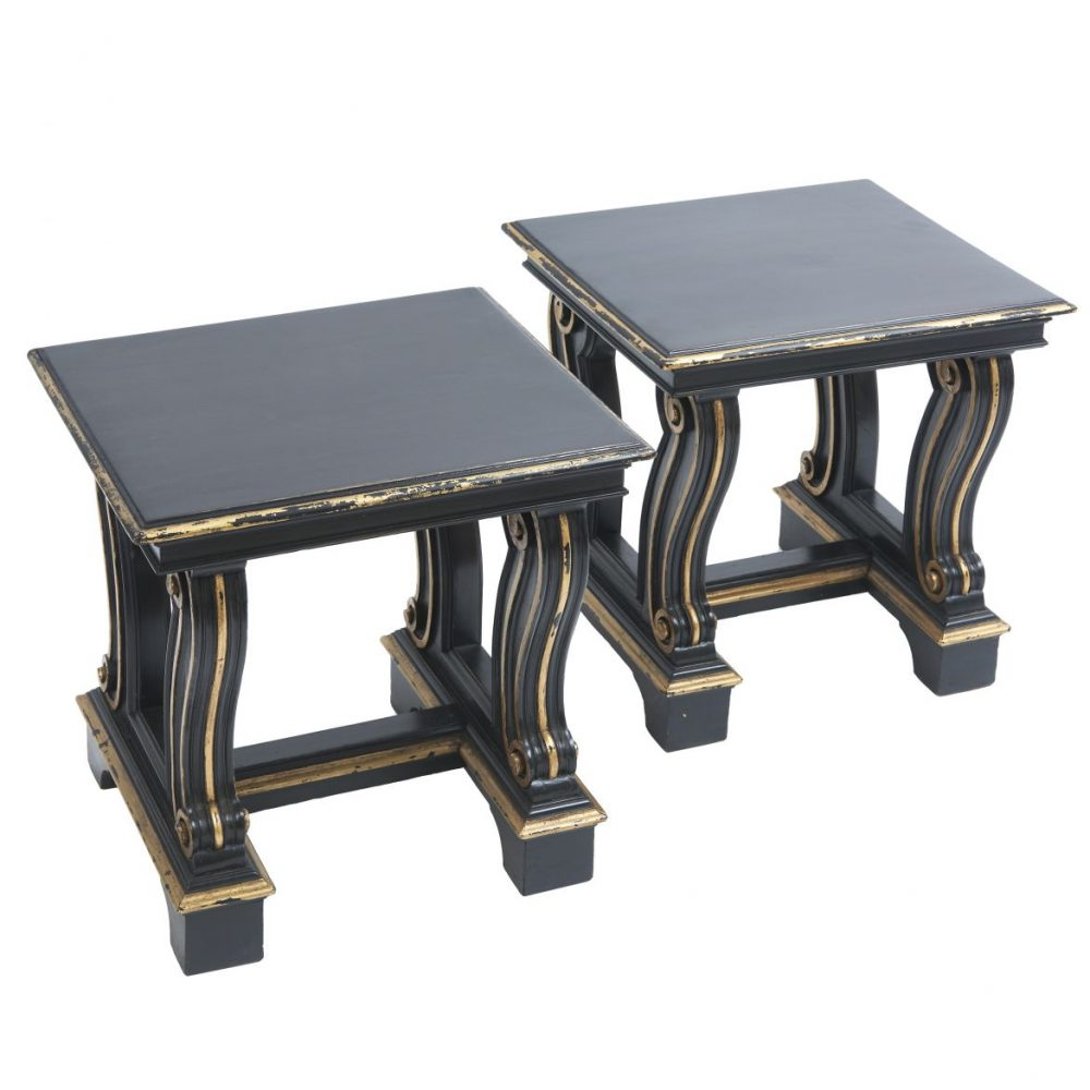 Pair English Classical Style Stools