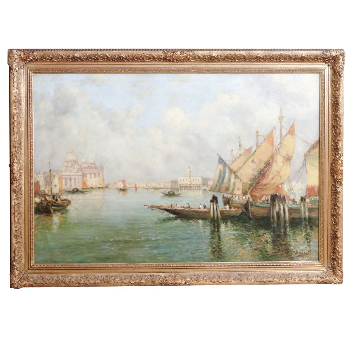 Nicholas Briganti Signed Oil on Canvas Of Venice