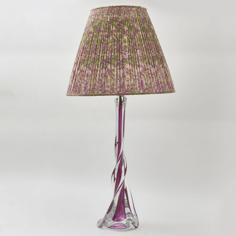 Large Val St Lambert Glass Lamp