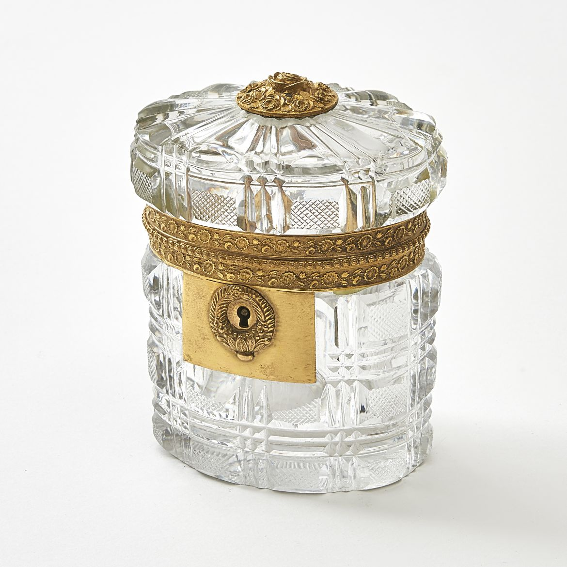 Louis Philippe Cut Crystal Box Attributed To Baccarat