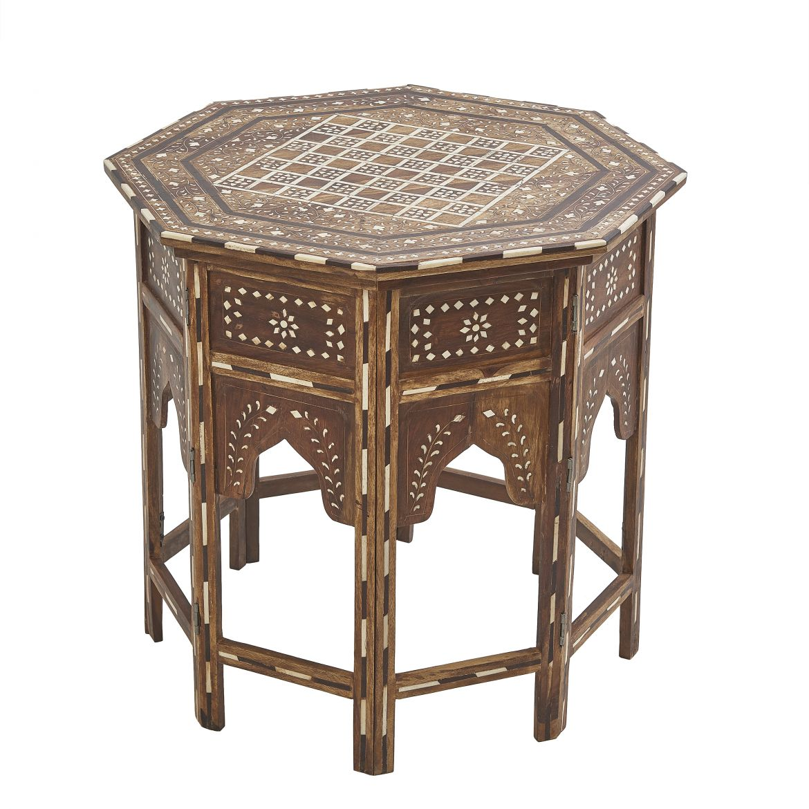 Contemporary Inlaid Folding Table