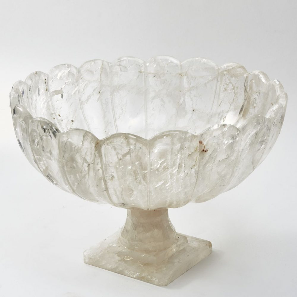 Rock Crystal Footed Bowl